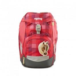 Školská taška Ergobag Prime - Purpurová károvaná