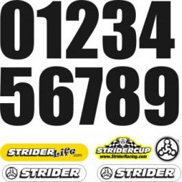 STRIDER náhradné čísla na poznávaciu značku